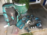 Makita set, drills, jig saw, skill saw