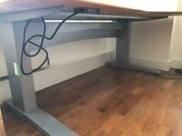 Offers-Electric Sit-Stand Right corner desk (rrp £725