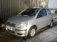 2003 (53) Toyota Yaris 1.0 VVT-i T2 3dr Cheap To Run & Insure, Long MOT, 2 Keys, Service History