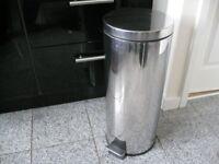 STAINLESS STEEL 30 litre PEDAL BIN