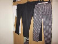 Primark/Topshop/H&M trousers, left to right