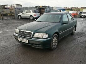 Mercedes Benz c250d parts 1999 year bumper bonnet wing light radiator alloy wheels engine gearbox
