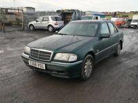 Mercedes Benz c250d parts 1999 year bumper bonnet wing light radiator alloy wheels engine gearbox