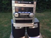 Philips Hi-Fi stereo 3 cd changer & speakers