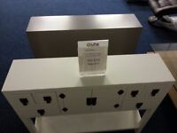 Console Table White Ex Display Model
