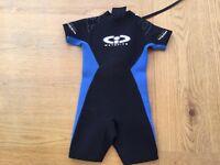 Blue short wetsuit - should fit age 6-7