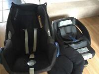 Maxi Cosi CabrioFix Car seat & IsoFix EasyFix Base