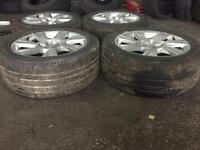 18 inch Audi tires with alloys