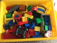 Two boxes of DUPLO bricks! Each is about 3 kilos, so, lots of bricks!
