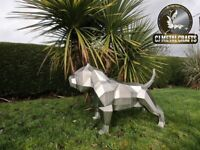 American Bully stainless steel sculpture