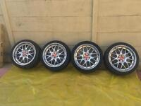 "BBS RS GT Replicas, 5 stud 18"" Alloys/Rims (centre caps included)."