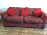 Available Now*3 seater sofa and foot stool*. Non smoking house. Collection only