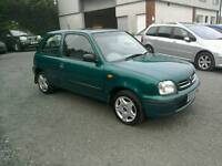 00 Nissan Micra 1.0 3 Door Only 73000 Mls very clean car great driver ( can be viewed anytime