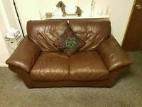 Brown 2 & 3 seater sofa