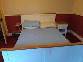 White and Pine MFI Bedroom Furniture Set