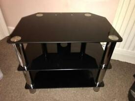 Black glass TV stand from John Lewis
