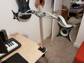 Desk Mount Double Monitor Arm