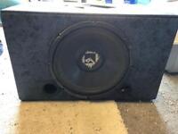 """Rockford fostgae 12"""" sub woofer and custom box"""