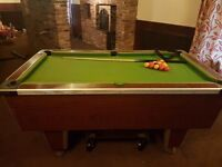 Full size pool table £200 - comes with balls and cues and trolley jack to manouvere table around.