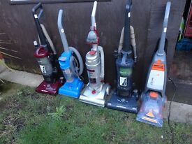 all types of hoovers and a cleaner £10 £12 £15 £20