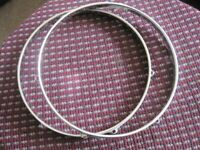 "!!RARE FIND!! VINTAGE 60s USA ROGERS 12"" 6 LUG DRUM HOOPS (COLLECTION LE27QT)"
