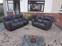 Free sofas brown leather recliners 3+2
