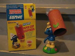 Smurfs - Paper Cup Dispenser - Authentic from Early 1980s