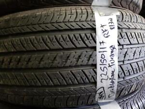1 summer tire Bridgrstone turanza runflat 225/50r17