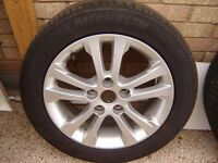 "16"" alloys with mitchelin all as new alloys never kerbed 205/55 16 5 stud"