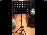 Black orchestra music stand