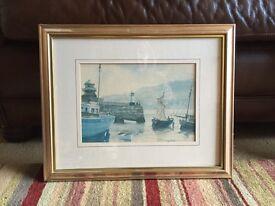 2 fold framed harbour prints