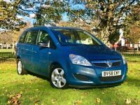 2008 VAUXHALL ZAFIRA EXCLUSIVE 1.6 PETROL MANUAL**7 SEATS*LOW MILES*3 MONTHS WARRANTY**