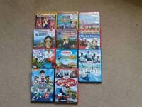 Fireman Sam and Thomas children's dvd's