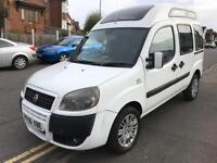 Fiat doblo diesel many uses van/camper conversion high top with windows and air con 2006