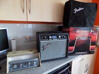 £145 ONO FENDER G DEC 3 FIFTEEN AMP BOXED + SOFTWARE + FENDER COVER + FENDER FOOTSWITCH