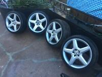 "Genuine Mercedes Amg alloys 19"" staggered"