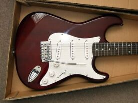 UNUSED ELECTRIC GUITAR WITH AMPLIFIER AND ACCESSORIES - BOXED AS NEW