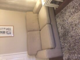 Two lovely beige/cream 3 seater sofas
