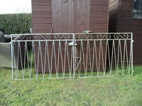 2 X Galvanised Driveway Gates With Steel Brackets