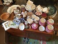 Large collection of vintage and European china
