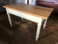 Kitchen Table with Oak Top