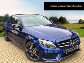 Mercedes-Benz C Class C 250 D AMG LINE PREMIUM (blue) 2017-09-19