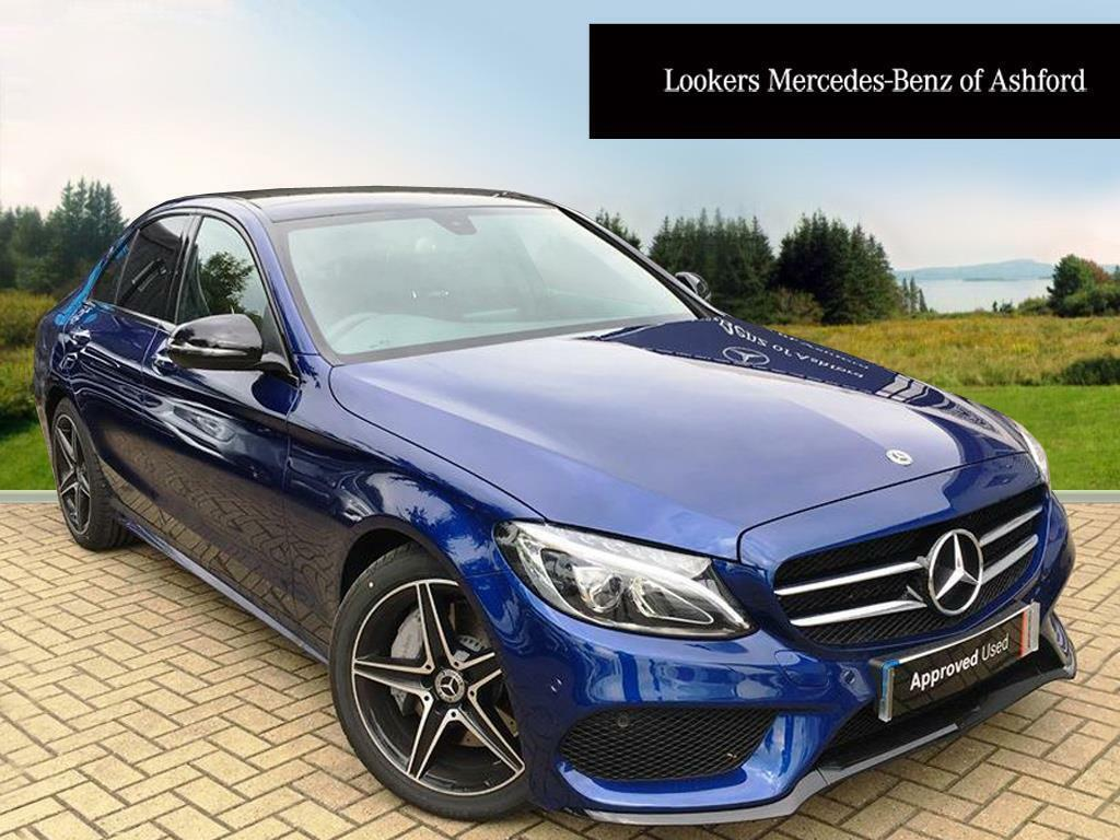 Mercedes benz c class c 250 d amg line premium blue 2017 for Mercedes benz 300 amg