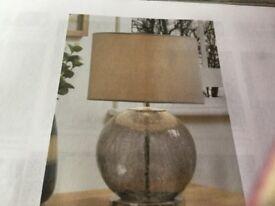 Next beige crackle lamps