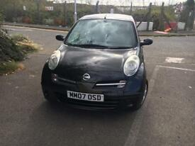 NISSAN MICRA 2007 BLACK AUTOMATIC HPI CLEAR