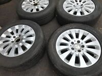 05 MERCEDES E CLASS FULL ALLOY WHEEL SET 16 INC WITH TYRES