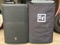 EV EKX-15P powered pa speakers