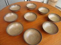 Denby Denbyware Romany 9 fruit/cereal bowls