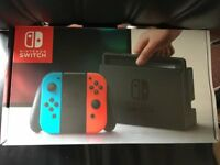 Nintendo Switch console (neon red/blue) 32gb - like new, used for one week
