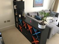 Side board/shelving with wine holders